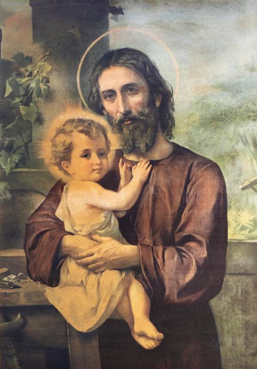 The painting of St. Joseph in church Chiesa di Santa Maria del Porto